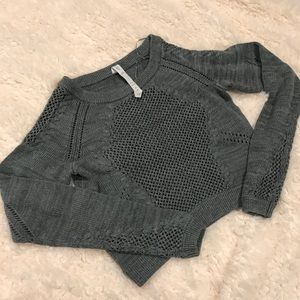 Lululemon Be Present cropped knit sweater